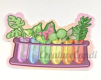 "Propagation Station 3"" Sticker | Cute Plant Sticker | Kawaii Biology Sticker"