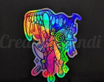 """Candy Gore Maw 3"""" Holographic Sticker"""