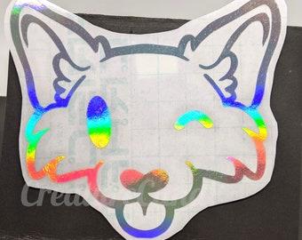 Hello Furry Fox Decal | Cute Winking Fox Vinyl Decal | Kawaii Fox Decal