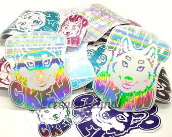 Awoo Crew | Wolf Sticker | Werewolf Sticker| Wolf Pack Sticker | Furry Sticker | Vinyl Decal | Waterproof Decal | Permanent | Wolf Decal