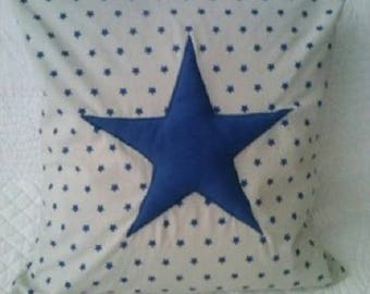 SALE, three d blue star pillow cover