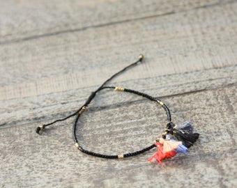 Bracelet beads and tassel / bracelet summer