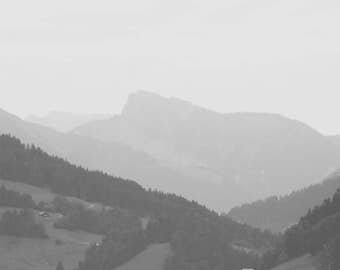 Mountain Wall Art; Swiss Alps Wall Art; black and white art; modern minimalist wall art; Switzerland art; Mountain wall art; wall art Swiss