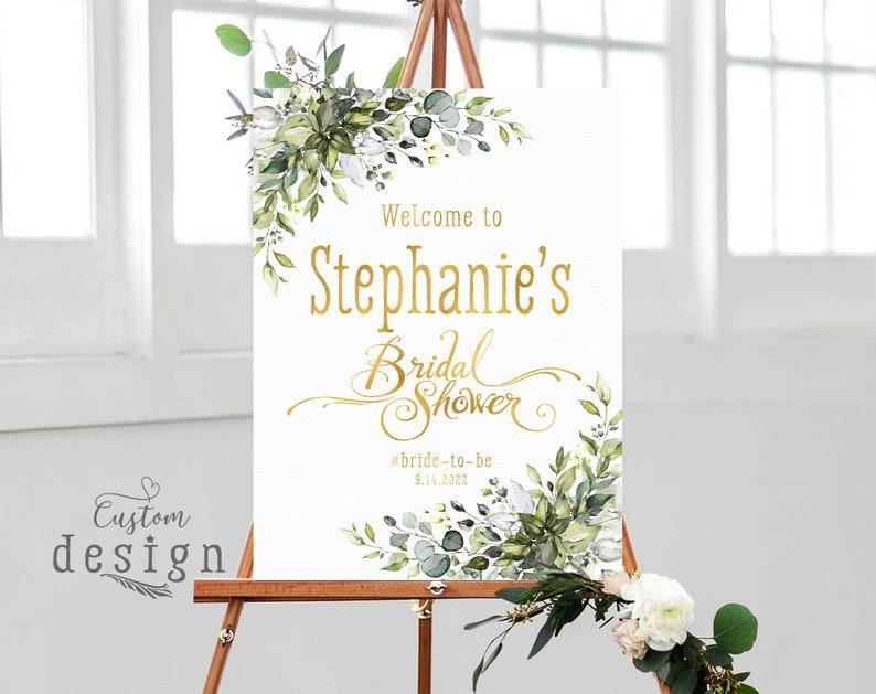 Bridal Shower decoration Floral welcome sign Bridal Shower Welcome Sign Bridal Shower sign Greenery Bridal shower sign Printable sign