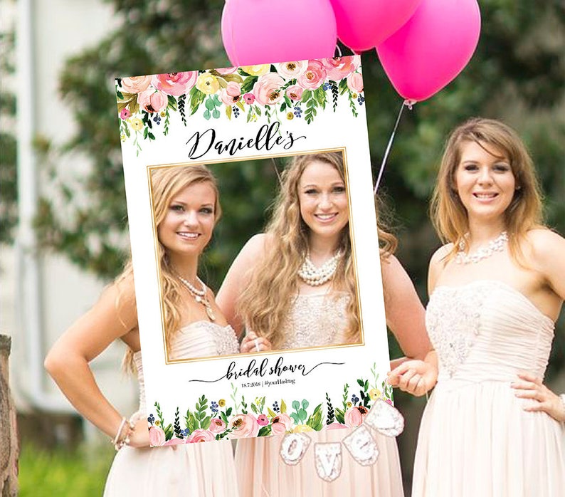 Photo props Birthday Photo Prop Selfie Frame bridal shower photo booth frame Shower sign Bridal Shower Photo Prop Wedding photo props