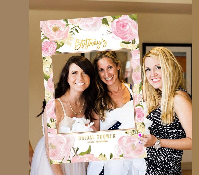 Bridal Shower Photo Prop Wedding photo props Birthday Photo Prop bridal shower photo booth frame Photo props Selfie Frame Shower sign