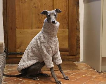 Grey Soft Fluffy Fleece Jumper Pyjamas 5 Sizes Italian Greyhound, Whippet, Lurcher, Greyhound, Saluki Sighthound