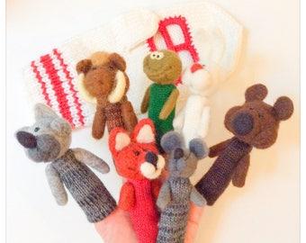 Finger puppets fairy tale The Mitten/Rukovichka/puppet fingers tale mitten