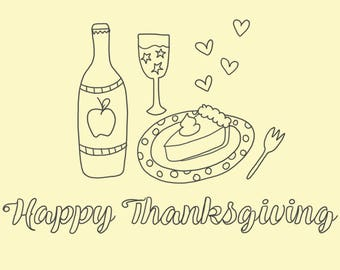 5-Pack Thanksgiving Coloring Pages