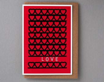 Sweet LOVE - Love Cards,Cool Greeting Cards,Cards for Her,Love You Cards,Cute Wedding Cards,Typography Cards