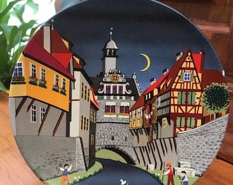 Poole Pottery Vintage Collectible Decorative Plate. Barbara Furstenhofer.