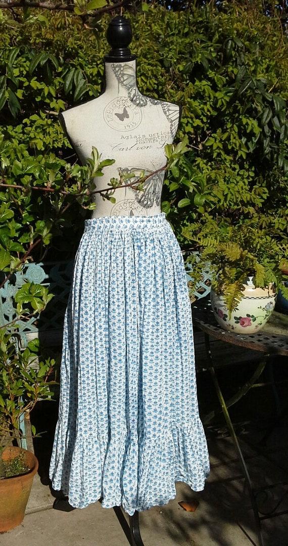 Vintage Anokhi Tiered Gypsy Skirt