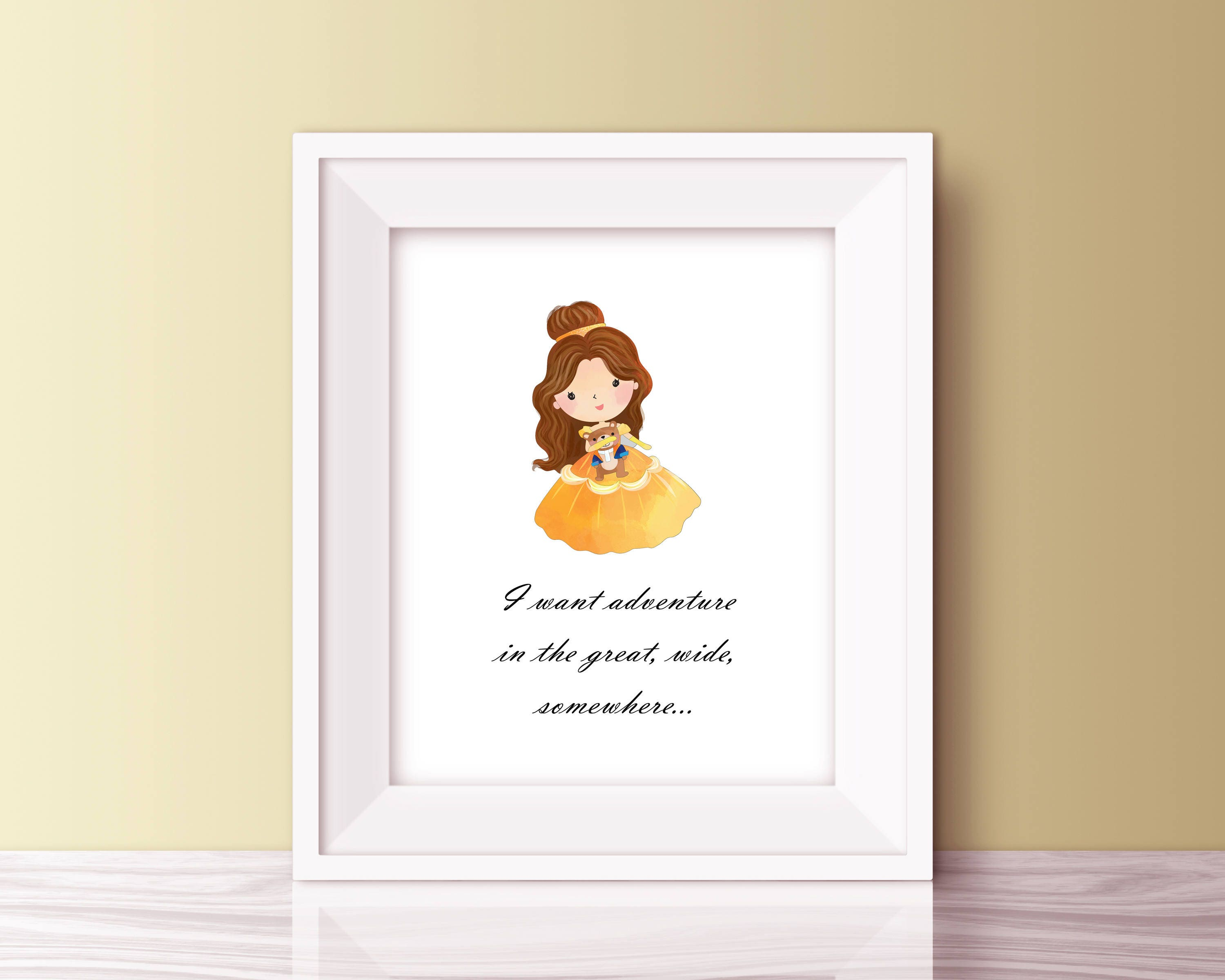 Belle Disney Princess Quote Beauty And The Beast Quotes Etsy