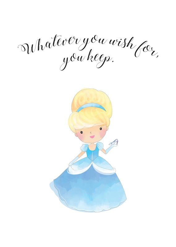 Cinderella Disney Princess Quotes, Cinderella Quotes, Printable Disney Wall  Art