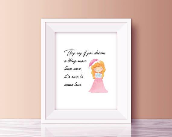 Aurora Disney Princess Quote, Sleeping Beauty Quotes, Printable Disney Art