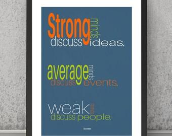 Sócrates cita imprimir Sócrates cita cartel inspirador cartel inspirador impresión inspiracional arte impresión tipografía citar