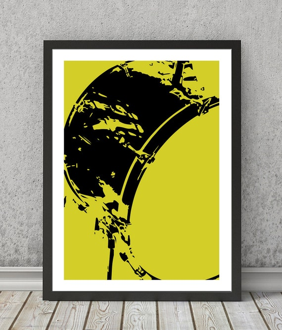 Drum print Drum poster Drum art Drum wall decor Drum wall