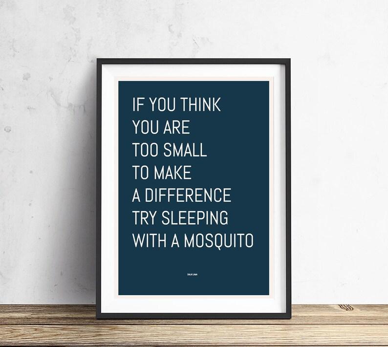 Dalai Lama Quote Mosquito Quote Print Quote Posters Etsy