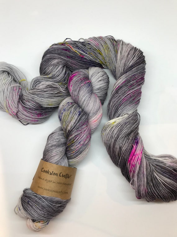 """Granite Speckle 2"" 100g Superwash Merino / Nylon Sock Yarn 4 ply"