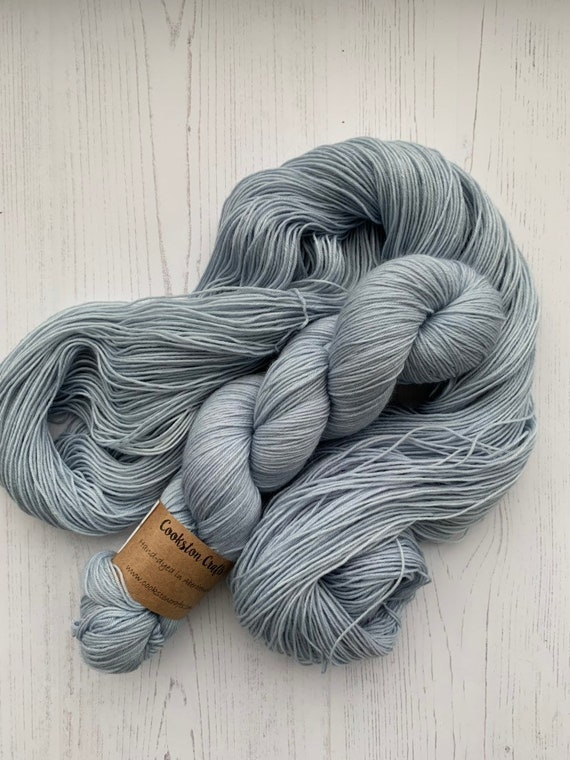 Cloud -  100g Superwash Merino / Nylon Sock Yarn 4 ply, fingering, hand dyed in Scotland, blue, pastel, pale semi solid