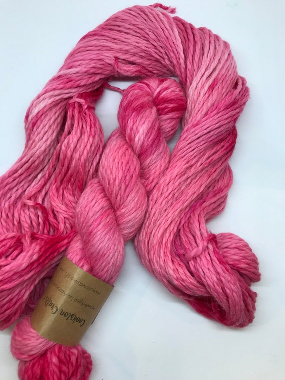 "100g Baby Alpaca  Chunky / Bulky Yarn, hand dyed in Scotland, ""blush"" so soft and squishy!"