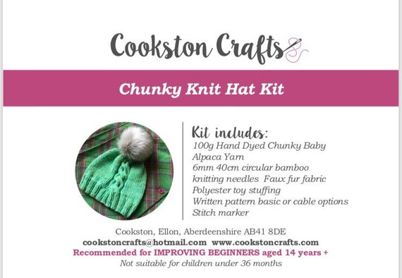 3938bf4ee73 ... Knit Kit - Chunky Baby Alpaca Beanie Hat Kit designed and produced in  Scotland