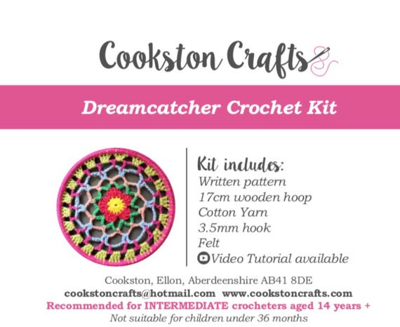 Crochet Kit - Dreamcatcher DIY kit with detailed video tutorial
