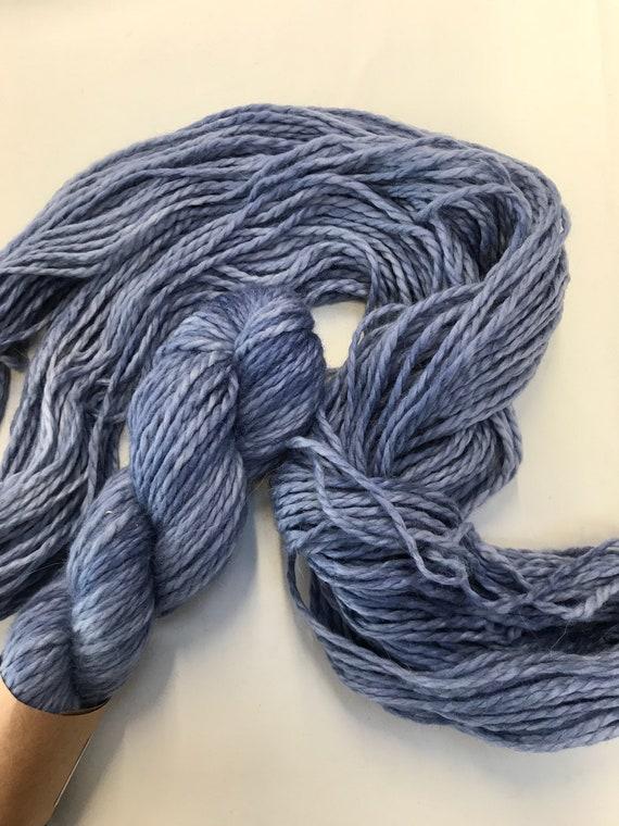 """Storm Blue"" 100g Baby Alpaca  Chunky / Bulky Yarn"