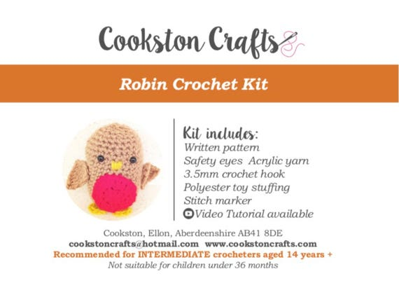 Crochet Kit - Mr Robin - Amigurumi