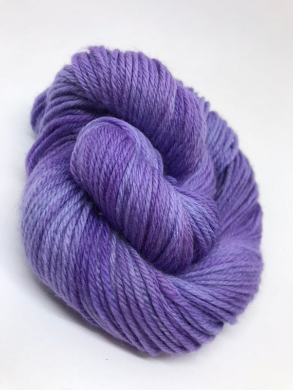 Lilac - 50g 100% Superwash Merino DK double knit yarn, hand dyed in Scotland, tonal lilac purple