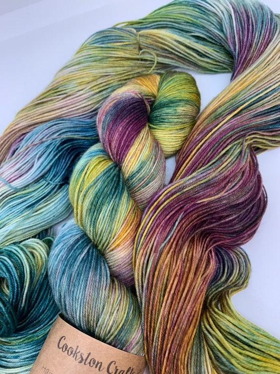 Mallard - 100g Superwash Merino / Nylon Sock Yarn 4 ply, fingering, hand dyed in Scotland, burgandy, gold, teal, autumnal
