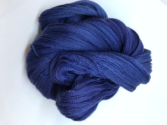 100g Extra fine merino / silk lace weight yarn, 80/20% 600 metres, hand dyed, 'Lady Loves'