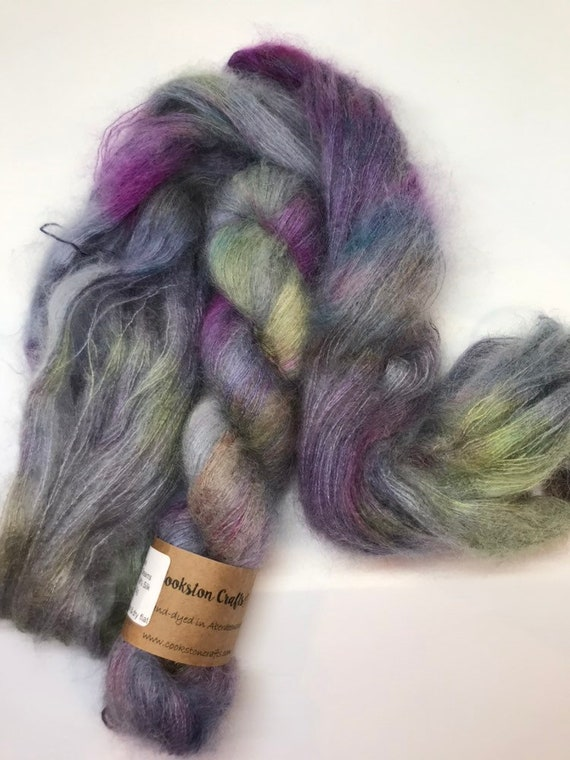A Million Dreams  - 50g Kid Mohair / Silk 72/28 % lace weight hand dyed in Scotland, navy, pink, purple, yellow