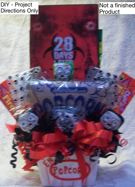 Halloween Crafts Movie Basket Candy Bouquet Diy Crafts Gift Ideas Zombie Gift Idea Zombie Basket Walking Dead How To