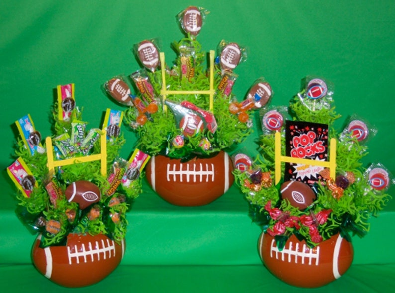 Football Themed Party Candy Bouquet Diy Instructions Etsy