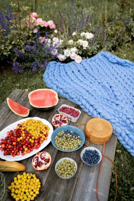 Bras de jet tricot grosse tricoté. Fait à la main de laine mérinos ... 031a38c2d2c