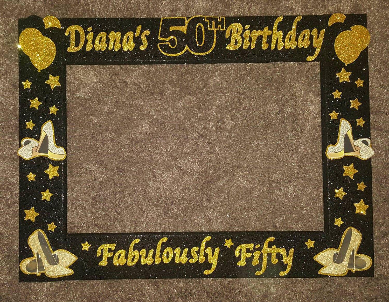 50th Birthday Minnie Mouse Photo Booth Frame Birthday Etsy