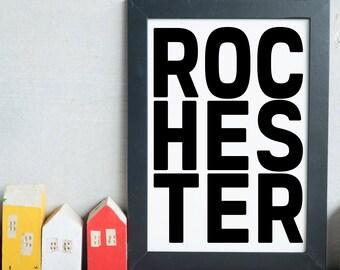 Rochester, New York State, Upstate New York, Upstate ny, Rochester Wall Decor, Rochester Art Poster, Rochester Wall Art, Rochester Poster