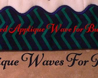 Wave applique etsy