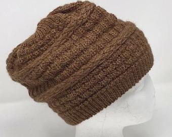 Alpaca Slouch Beanie, Alpaca Knit Hat, One Hat, Alpaca Beanie, Breathable, Warm Alpaca Hat, Woman's Alpaca hat