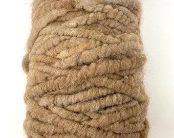 Alpaca Rug Yarn, All Natural Suri Alpaca Core Spun Yarn for Weaving, Pegloom Rug Yarn, Big Needle Knitting Yarn, Crochet or Crafting Yarn