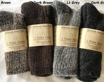 8bf25fb3e0f14 Alpaca Socks -All Terrain Socks- All Season Socks - Alpaca Hiking Socks -  Unisex Alpaca Socks