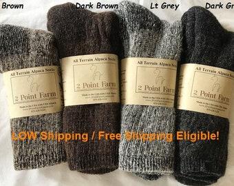 Alpaca Socks, All Season Socks, Hiking and Sport Socks, Alpaca Socks for Men and Women, Gift Idea, Back to School Gift, One Pair