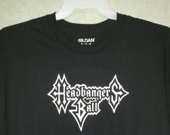 77c0cddaba2 Headbangers Ball Retro MTV Heavy Metal Rock and Roll Video TV Show Music  Bands Logo Custom Made NovelTee Shirt Black