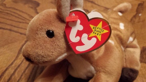 a44cad97340 Items similar to Ty Whisper Beanie Baby RARE Collectible Error on Hang Tag  1997 - Tush Tag 1998 Price Lowered on Etsy