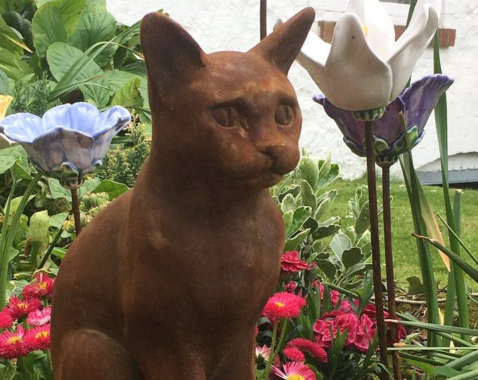 Sitting Cat iron resin