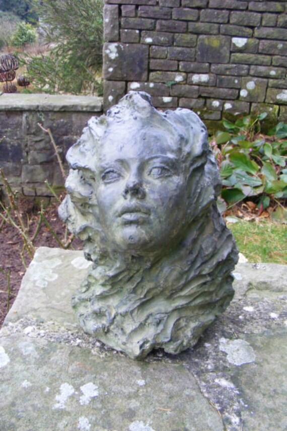 Large Garden Sculpture Titania Woman Stone Sculpture Etsy