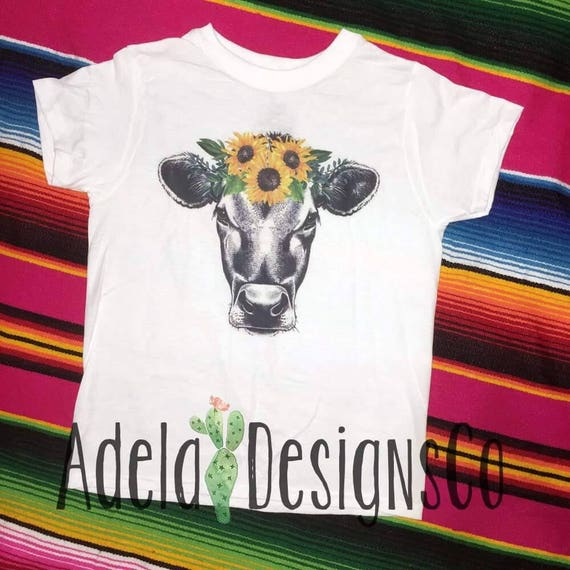 5ebb16baf5a28 Sunflower Cow Infant/Toddler/Youth Sizes