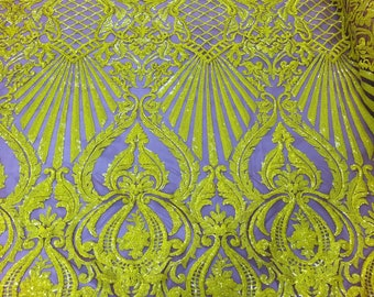 """4-way Mesh Stretch Spring Flowers Multi colors Lace Fabric 58/"""" SHIP FROM USA"""