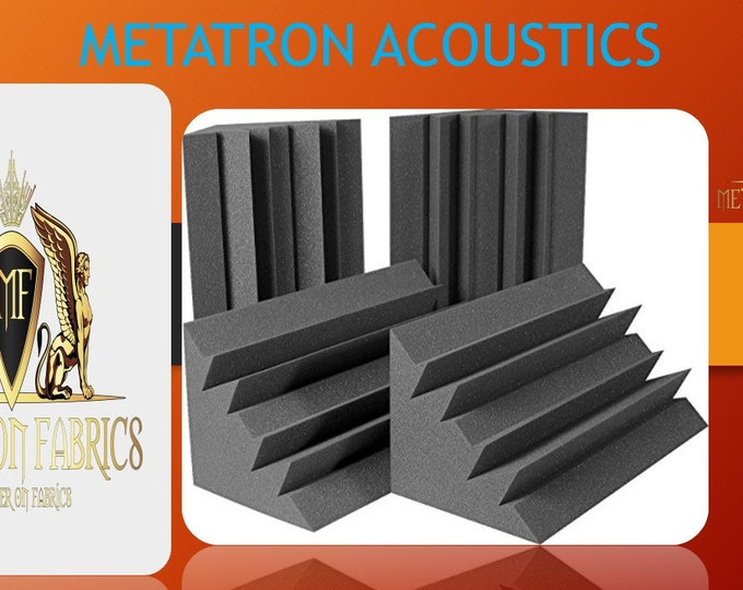 Acoustic Foam Bass Trap Corner 4 Pack 12 X 12 X 12